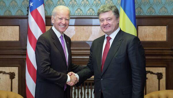 Sastanak P. Porošenka i Džozefa Bajdena u Kijevu - Sputnik Srbija