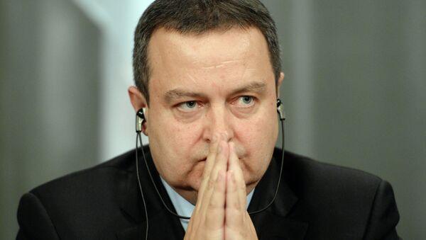Дачић: делегација из Приштине после дугих и тешких разговора одустала од тога на чему су инсистирали - Sputnik Србија