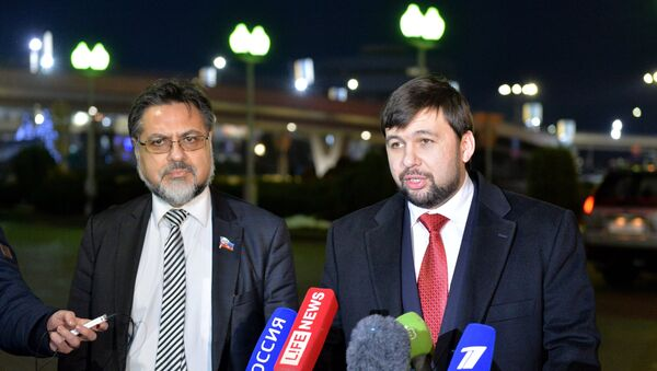 Predstavnici DNR i LNR na pregovorima u Minsku - Sputnik Srbija