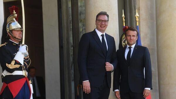 Aleksandar Vučić i Emanuel Makron u Parizu - Sputnik Srbija