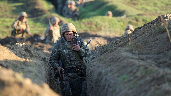 Jermenski vojnici na granici sa Azerbejdžanom - Sputnik Srbija
