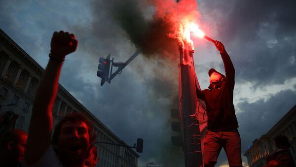 Демонстранти на протестима у Бугарској - Sputnik Србија
