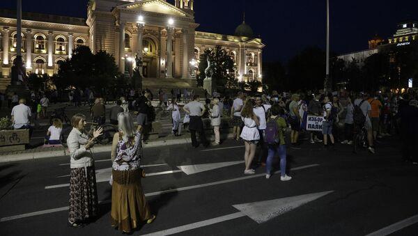 Protest ispred Skupštine Srbije - Sputnik Srbija