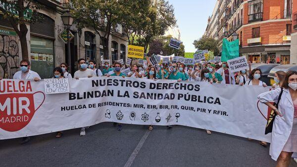 Протест лекара у Мадриду - Sputnik Србија