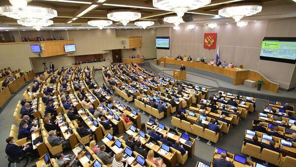 Председник Владе Русије Михаил Мишустин обраћа се посланицима Државне думе - Sputnik Србија