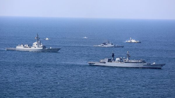 Brodovi NATO-a tokom međunarodnih vojnih vežbi Morski povetarac 2020 na Crnom moru - Sputnik Srbija