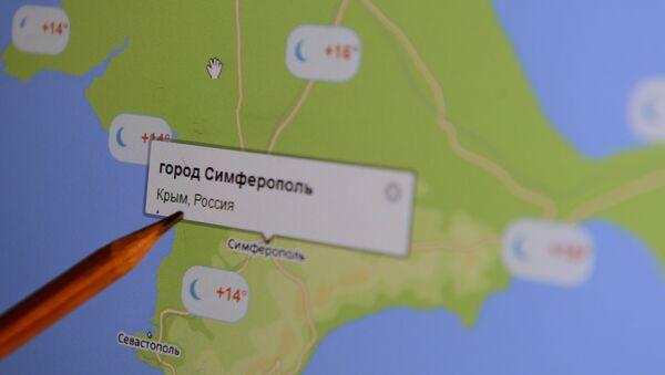 Elektronska karta Krima na monitoru - Sputnik Srbija