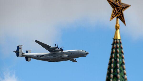 Avion An-22 Antej na probi vezdušnog dela Parade pobede u Moskvi - Sputnik Srbija