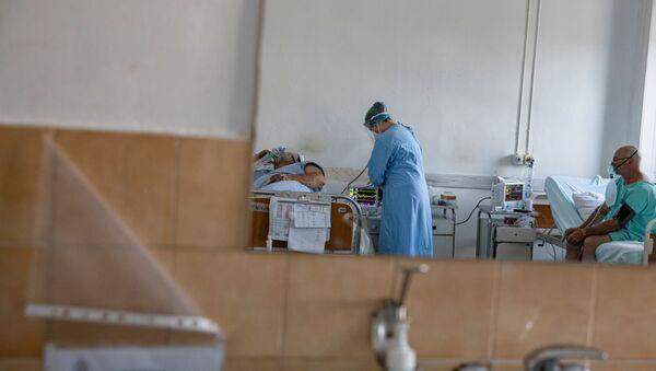 Пацијенти у ковид болници Бежанијска коса - Sputnik Србија