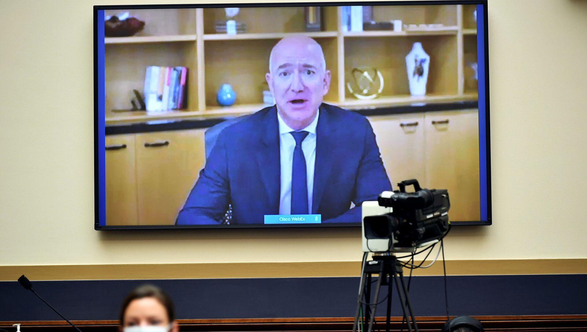 Džef Bezos svedoči pred Kongresom putem video-linka - Sputnik Srbija, 1920, 02.02.2021