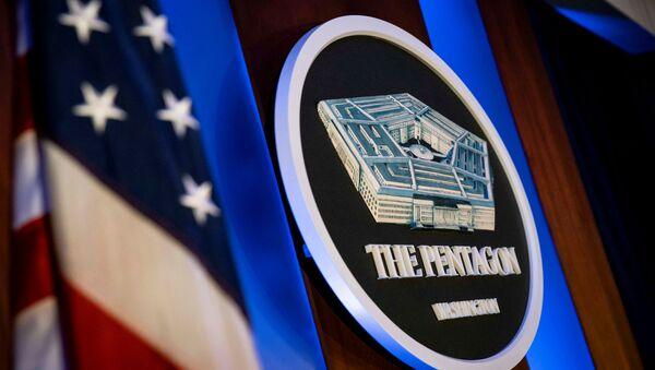 Грб Пентагона у седишту у Вашингтону - Sputnik Србија