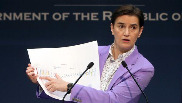 Ana Brnabić o ekonomskim rezultatima - Sputnik Srbija