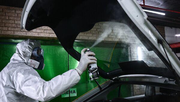 Dezinfekcija automobila za iznajmljivanje u Moskvi - Sputnik Srbija