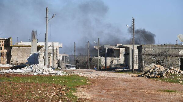 Куће уништене у нападу терориста у сиријској провинцији Идлиб - Sputnik Србија
