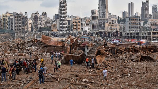 Posledice snažne eksplozije u Bejrutu - Sputnik Srbija