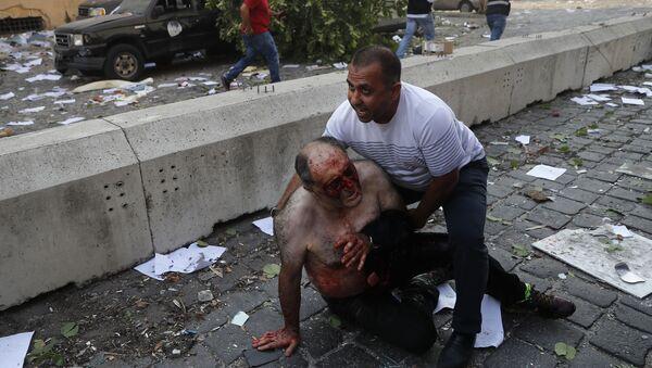 Људи повређени у експлозији у Бејруту - Sputnik Србија