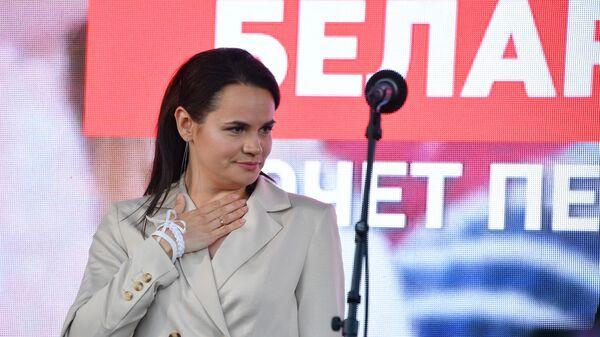 Кандидаткиња за председника Белорусије Светлана Тихановска  - Sputnik Србија