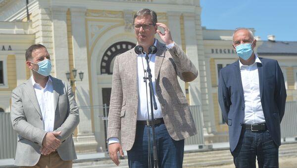 Председник Србије обишао радове на Савском тргу - Sputnik Србија