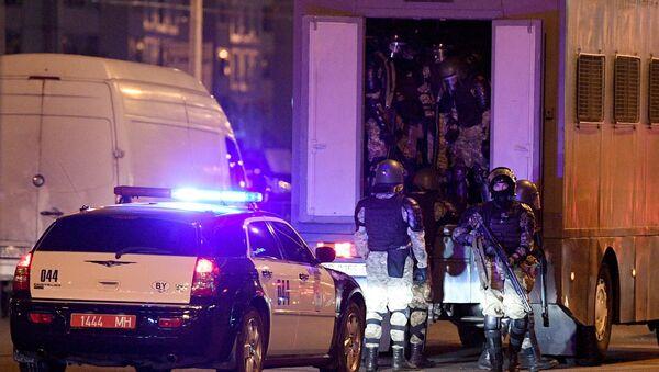 Pripadnici policije na protestima u Minsku nakon predsedničkih izbora u Belorusiji - Sputnik Srbija
