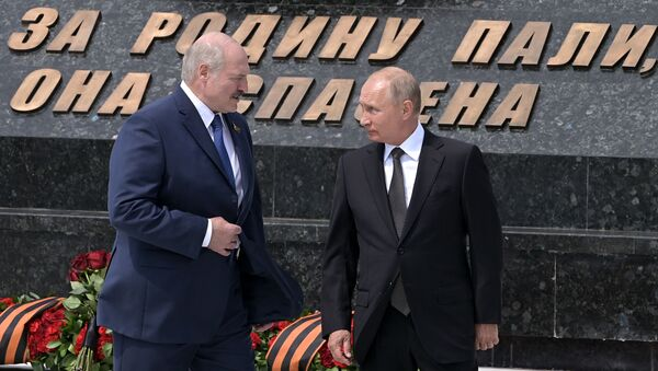 Predsednik Rusije Vladimir Putin i predsednik Belorusije Aleksandar Lukašenko - Sputnik Srbija