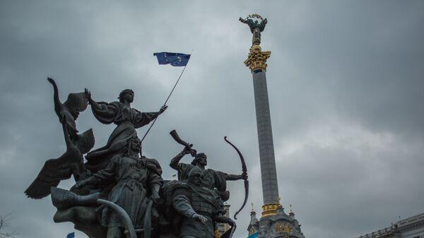 Protest za podršku evrointegraciji Ukrajine na Trgu Nezavisnosti u Kijevu. Arhivska fotografija - Sputnik Srbija