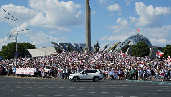 Протестни скуп у Минску након председничких избора у Белорусији - Sputnik Србија