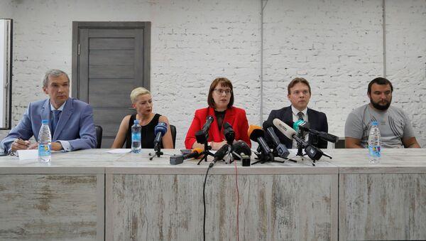 Predstavnici Koordinacionog saveta Pavel Latuško, Marija Kolesnikova, Olga Kovaljlkova, Maksim Znak i Sergej Dilevski - Sputnik Srbija