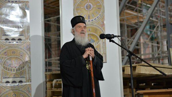 Патријарх Иринеј у храму Светог Саве - Sputnik Србија