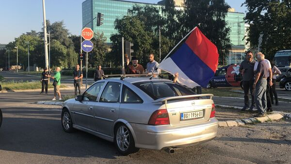 Ауто-мото литија кренула је из Београда према граници са Црном Гором - Sputnik Србија