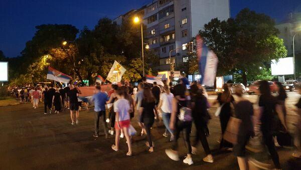 Protestna šetnja u Podgorici - Sputnik Srbija