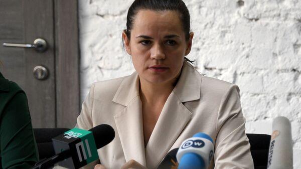Бивши председнички кандидат на изборима у Белорусији Светлана Тихановска - Sputnik Србија