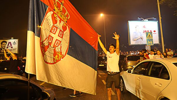 Славље присталица опозиције у Подгорици после избора у Црној Гори  - Sputnik Србија