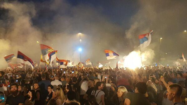 Славље у Подгорици дан након избора - Sputnik Србија