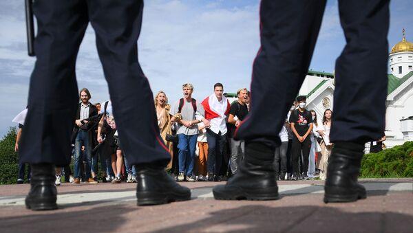 Студенти на протесту белоруске опозиције у Минску - Sputnik Србија