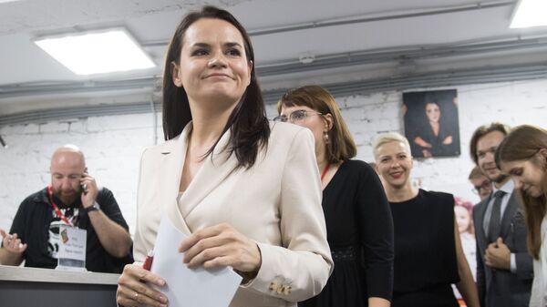 Председнички кандидат на изборима у Белорусији Светлана Тихановска - Sputnik Србија