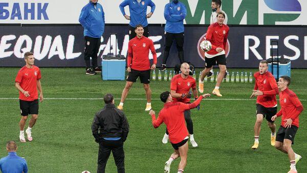 Фудбалери репрезентације Србије на тренингу уочи утакмице Лиге нација УЕФА против Русије - Sputnik Србија