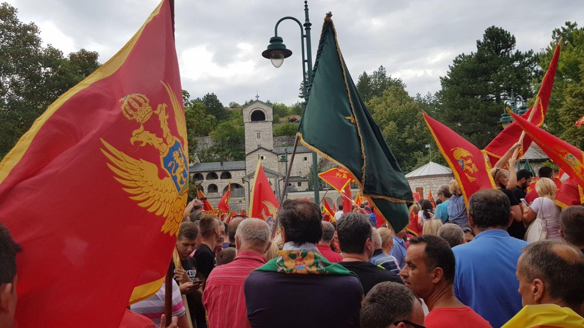 """Skup """"crnogorskih patriota"""" na Cetinju, ispred Cetinjskog manastira - Sputnik Srbija, 1920, 08.09.2021"""