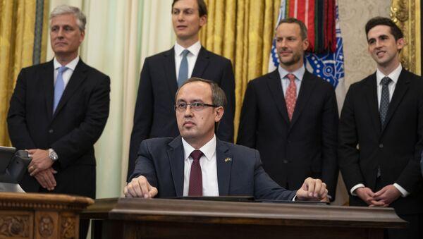 Председник привремених косовских институција Авдулах Хоти у Белој кући - Sputnik Србија