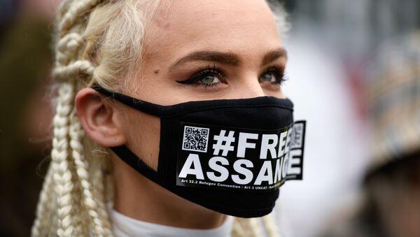 Džulijan Asanž protest u Londonu - Sputnik Srbija
