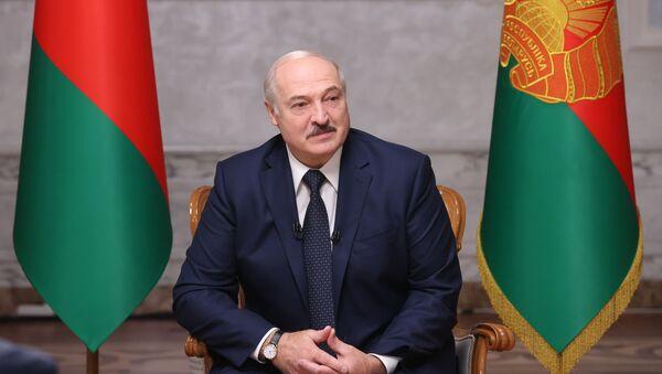 Председник Белорусије Александар Лукашенко током интервјуа за руске медије - Sputnik Србија