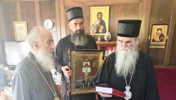 Susret patrijarha Irineja i mitropolita Amfilohija - Sputnik Srbija