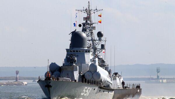 """Амерички носач авиона """"Рос"""" ушао у Балтичко море, под будним оком Балтичке флоте - Sputnik Србија"""