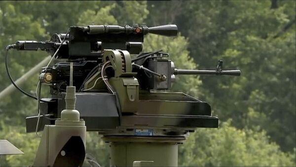 Osnova vozila BOV M16 odlikuje se visokim stepenom balističke zaštite, dobijenom ugradnjom nove generacije modularnog oklopa - Sputnik Srbija