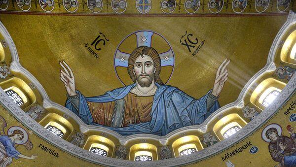 Мозаик над олтаром у Храму Светог Саве - Sputnik Србија
