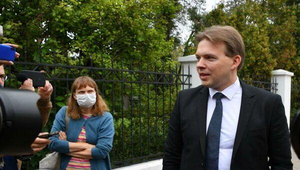 Advokat i član prezidijuma Koordinacionog saveta beloruske opozicije Maksim Znak - Sputnik Srbija