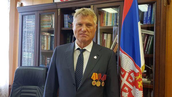 Ambasador Srbije u Rusiji Miroslav Lazanski odlikovan u Moskvi Medaljom za jačanje srpsko-ruskog prijateljstva - Sputnik Srbija