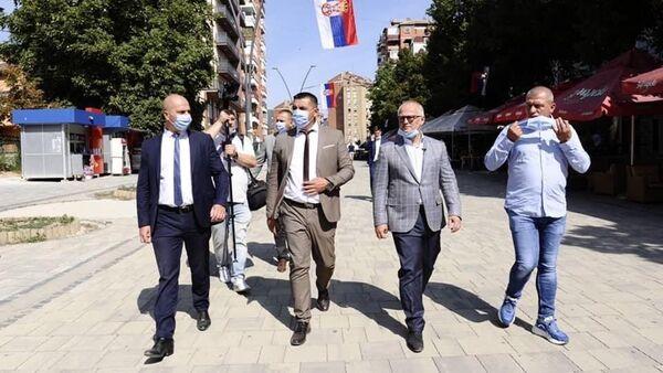 Заменик градоначелника Београда Горан Весић у посети Косовској Митровици - Sputnik Србија