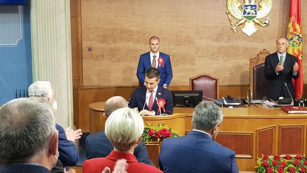 """Лидер коалиције """"Мир је наша нација"""" и председник Демократске Црне Горе Алекса Бечић - Sputnik Србија"""