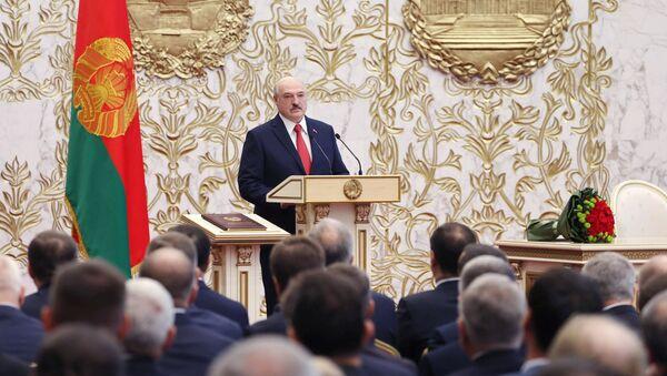 Председник Белорусије Александар Лукашенко на церемонији инаугурације у Минску - Sputnik Србија