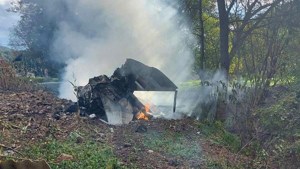 Avion u plamenu - Sputnik Srbija